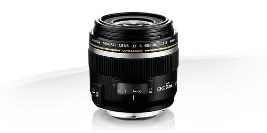 Festbrennweite, 52mm Filtergewinde, Autofokus schwarz Canon Objektiv EF-S 60mm F2.8 Makro USM Lens f/ür EOS S