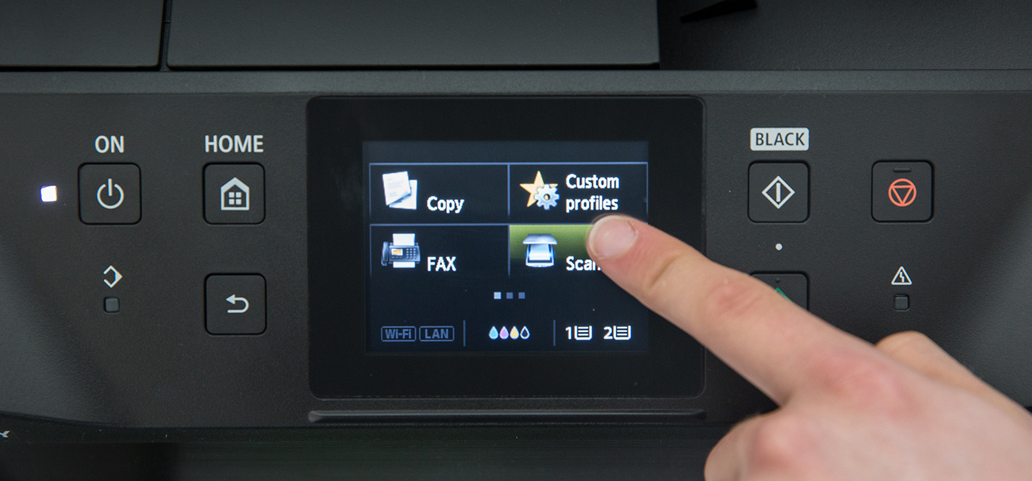 MAXIFY MG5450 touchscreen panel